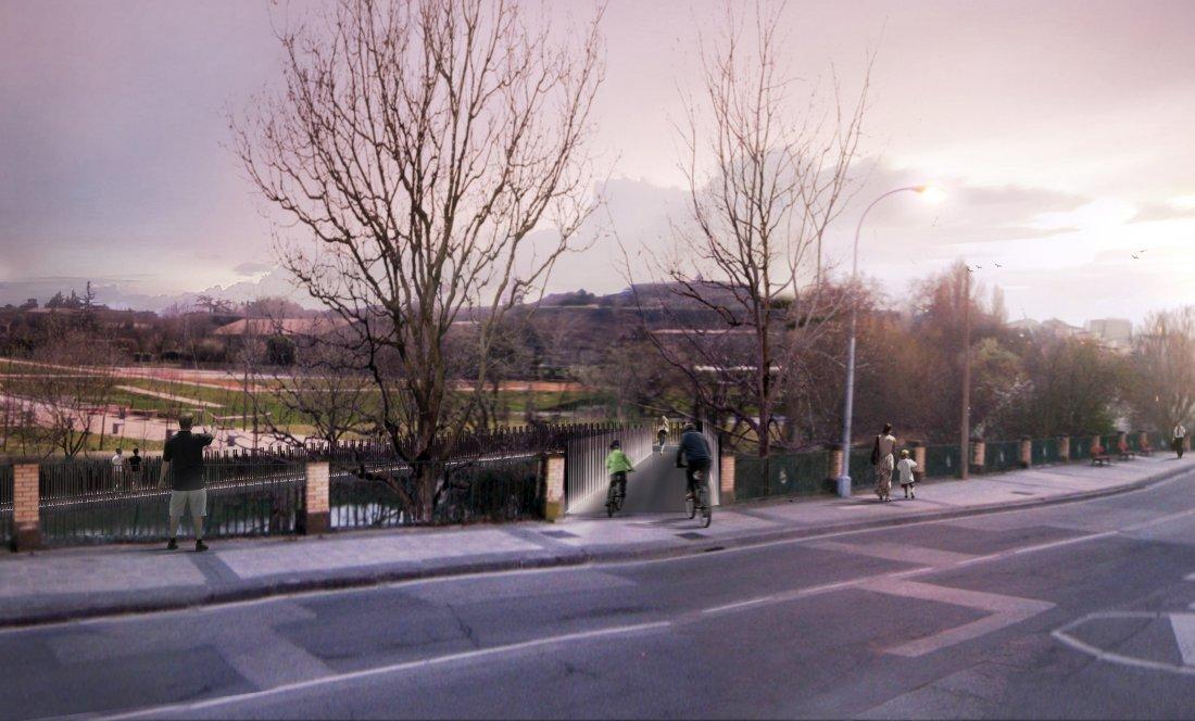Pasarela peatonal de conexión Aranzadi - Rochapea_APEZTEGUIA ARCHITECTS_3