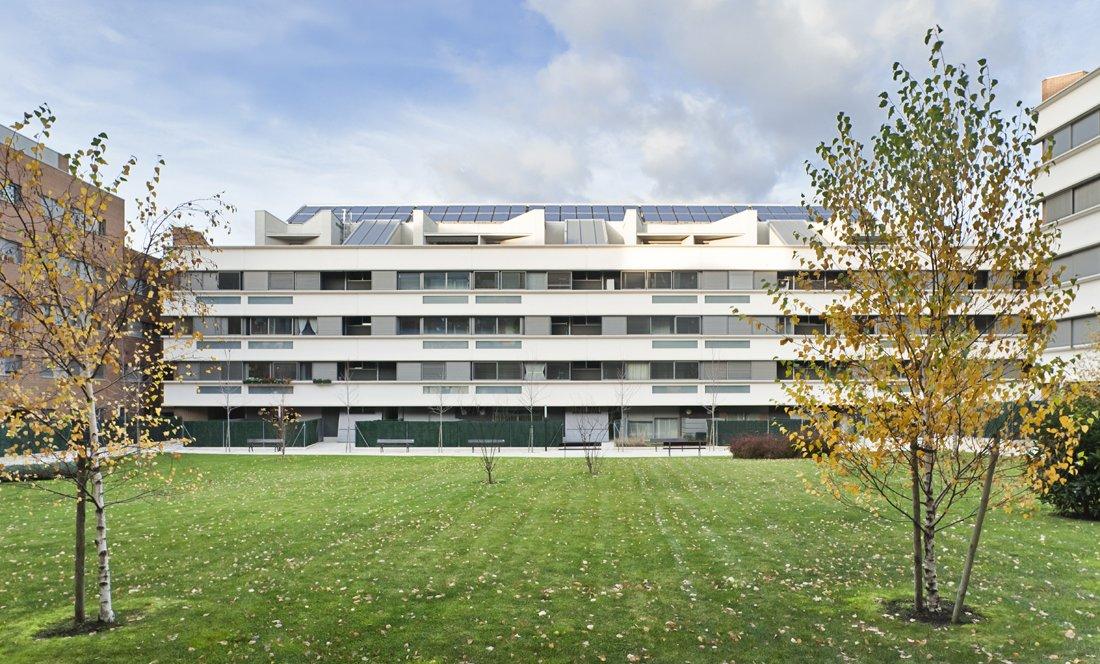 vista exterior 1. 161 VPO Sarriguren. Apezteguia Architects